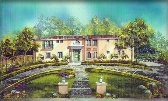 Italian Renaissance Home Remodel, Design Rendering