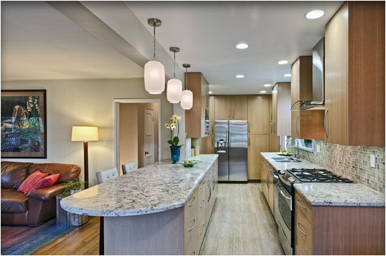 gallery-style kitchen